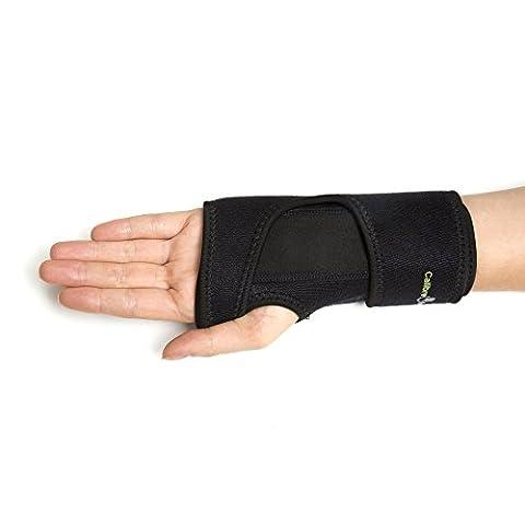 Support pour poignet en Calibre avancé, 100% satisfait ou remboursé. Le SCC support offrant un Soulagement instantané pour syndrome du canal carpien, les Tendinites et douleurs au poignet–Coupe réglable Attelle amovible (Right 1-size)