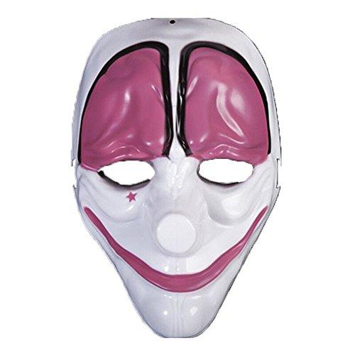 PromMask Mascara Facial Careta Protector de Cara dominó Frente Falso Máscara Motosierra de Payaso aturdido Cabeza H1
