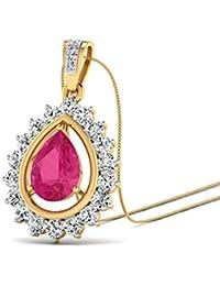 PC Jeweller The Vasilisa 18KT Yellow Gold, Diamond & Gemstone Pendant
