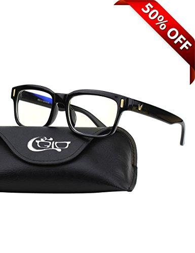 CGID-CT84-Gafas-para-Proteccin-contra-Luz-Azul-para-Computadora-Lectura-Video-Juegos-Proteccin-de-Fatiga-Visual-y-contra-Rayos-UVRectngulo-Vintage-Lentes-Transparente