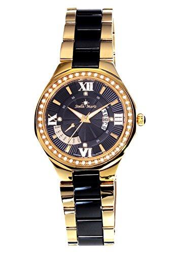 Stella Maris Montre Femme - Analogue Quartz - Bracelet Premium Céramique - Cadran Nacre - Diamants et Éléments Swarovski - STM18SM28