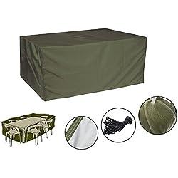 Sunray Funda Protectora para Muebles de Jardín Impermeable y Resistente Material de Poliéster 210D Tejido (Oxford) con Revestimiento de PU - Verde Oscuro, 270x 180x 89cm/ 8.8x 5.9x 2.9ft