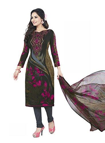 Shree Jeen Mata Unstitched Synthetic Leon Salwar/Churidar/Patiala Dress Material with Dupatta