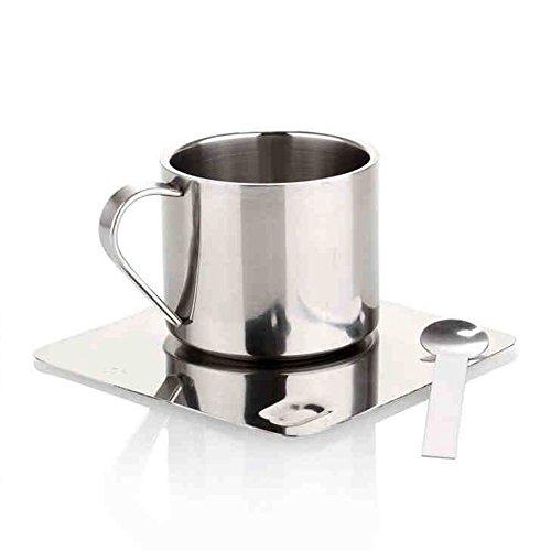 Acciaio inossidabile della tazza di caffè / quadrato Coffee Cup Set / metallo della tazza di caffè / doppio isolamento Coffee Cup Set