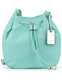 Cathy London Women's Sling Bag, Material- Synthetic Leather, Colour- Turquoise
