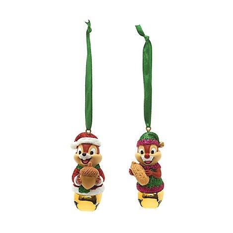 Chip 'n' Dale Festive Hängende Ornaments, Set von 2, Weihnachten Ornament, Offizielle Disney (Disney Chip Und Dale Kostüm)
