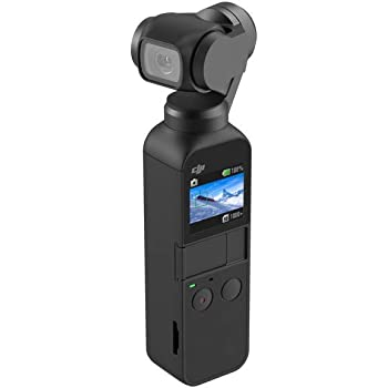 Osmo PocketDJI Osmo Pocket Handheld 3 Axis Gimbal Stabilizer with integrated Camera, Attachable to Smartphone, Android, iPhone