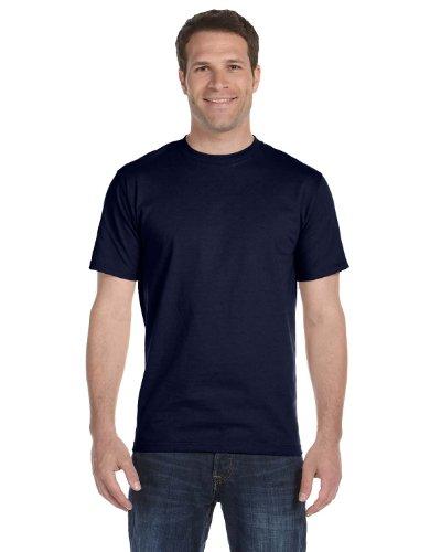 5 Shirt OZ Pack Hanes ComfortSoft 2 of Navy T 5 Cotton 5280 YqqZHFv