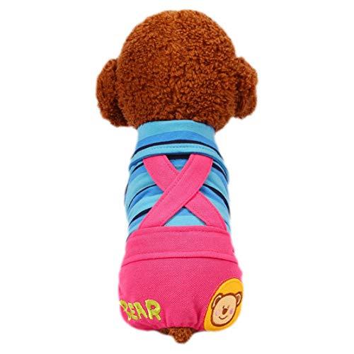 Junebao Welpen Stricken Riemen Pant Puppy Cartoon Latzhose Tier Freizeithosen Hosen Hunde Bekleidung Baumwolle Costume Haustier Kostüme Pet Kleidung,Reizende -