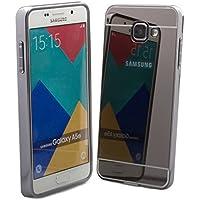 Samsung Galaxy A5 (modèle 2016) | Case iCues Amarillo Chrome Noir | Chrome Frame cas de couverture de cas Coque Housse Sac Étui Case Cover