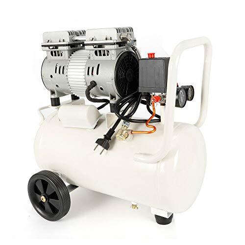 30L Compresor Silencioso De Aire Sin Aceite Mantenimiento