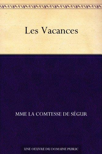 Couverture du livre Les Vacances