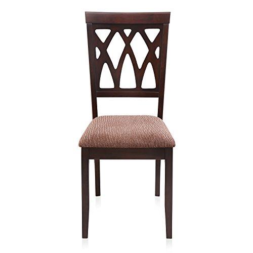 @Home by Nilkamal Peak Dining Chair (Brown)
