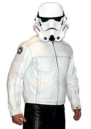 Star Wars Stormtrooper Leather Motorcycle Jacket -