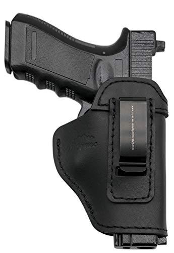 MAYMOC Custodia in Pelle IWB Defender per Scudo S & W M & P - Glock 17 19 22 23 32 33 / Springfield XD e XDS/Plus Pistole Simili (Destro)