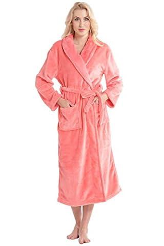 Aibrou pyjama femme polaire Robe chambre homme longue Hiver sortie de bain peignoir pas cher personnalisé rouge