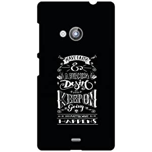 Nokia Lumia 535 Back Cover - Keep On Designer Cases