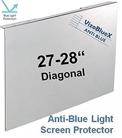 27-28 Zoll VizoBlueX Blaulichtfilter für Computermonitor. Anti-Blaulicht Computer Monitor Bildschirmschutz-Panel (64,0 x 37,5 cm). Für TV, LCD Fernseher und PC, Mac.Das ist Nicht Schutzfolie