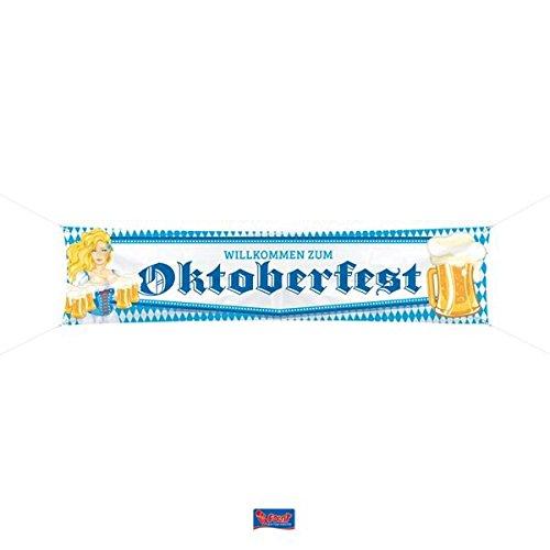 Folat XXL-Straßenbanner * Oktoberfest * zur Dekoration für die Wiesn | Straße Banner Bier Deko Dekoration Motto Bayern Oktober Fest Maßkrug Maßbier Maß