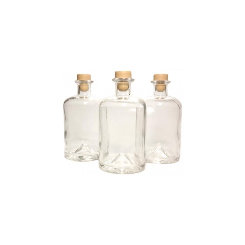 3 Apothekerflaschen 500ml Essigflaschen Lflaschen Schnapsflaschen Likrflaschen Karaffen Leer