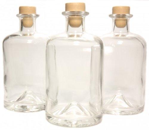 3 Apothekerflaschen 500ml Glas Flaschen leer Essigflaschen Ölflaschen Schnapsflaschen Likörflaschen zum selbst befüllen VERSAND INNERHALB 24 STD!