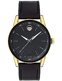 46ddc760a6cb Movado Museum Reloj de Hombre Cuarzo 41mm Correa de Cuero Caja de Acero  607223