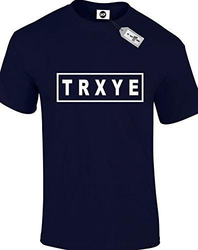 TRXYE Herren Erwachsene Unisex T-Shirt. Marineblau