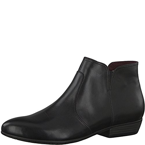 Tamaris Damen Stiefelette 25398-21,Frauen Stiefel,Boot,Halbstiefel,Damenstiefelette,Bootie,Reißverschluss,Blockabsatz 2.5cm,Black,EU 38