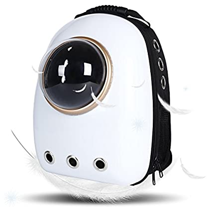 Dulcii Pet Carrier,Cat Dog Puppy Travel Hiking Camping Pet Carrier Backpack, Space Capsule Bubble Design,Waterproof Soft… 1