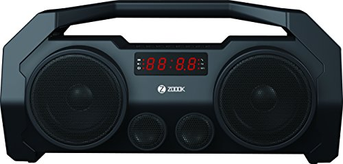 Zoook (France) ZB-Rocker BoomBox+ (5-in-1) 32W with 2 Passive Bass Radiator Bluetooth Speaker with display