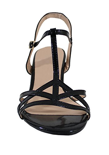 By Shoes Sandale Style Cuir Brillant - Femme Black
