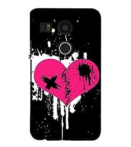 FIOBS Broken Love Symbol Abstract Designer Back Case Cover for LG Nexus 5X :: LG Google Nexus 5X New