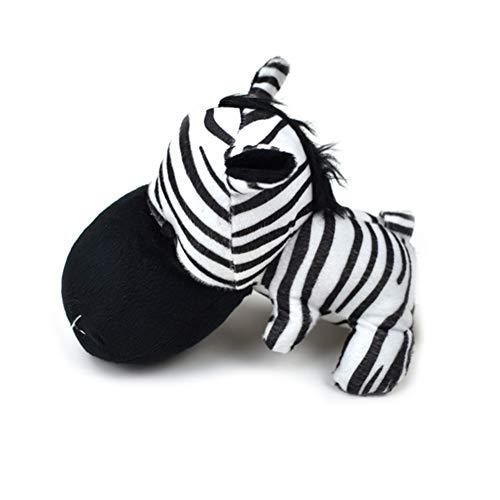 Pet Chew Spielzeug Hund quietschende Spielzeug Durable Plüschtiere für Medium Large Dog Biting (Zebra-Style) (Zebra-plüsch-spielzeug)