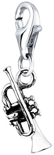 Nenalina Charm Trompete Anhänger in 925 Sterling Silber für alle gängigen Charmträger 713116-000