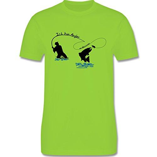 Angeln - Ich bin Angler am Wochenende - Herren Premium T-Shirt Hellgrün