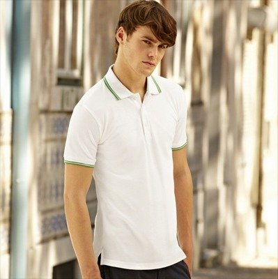 Fruit of the Loom - Kontrast Poloshirt 'Tipped Polo' Royal/White