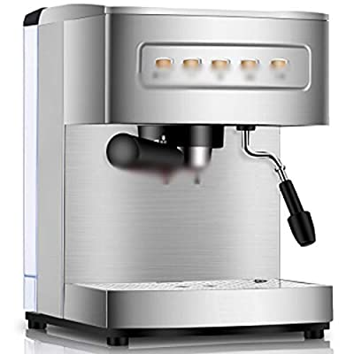 LJHA Espresso machine Home Commercial coffee machine Drip coffee machine Fully automatic coffee machine Filter coffee machine 275mm×280mm×315mm Metal color by Made in Shanxi