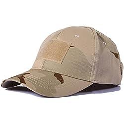 Ever Fairy Sombrero Militar de béisbol Sombrero de Camuflaje táctico Gorra para Wargame Hunting Fishing Juegos al Aire Libre (Camuflaje del Desierto)
