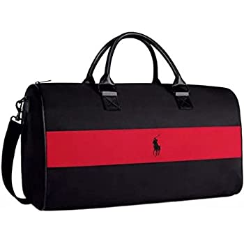 ... Ralph Lauren weekend, sports, travel, gym bag, holdall black with red  stripe ... cfd7dd0e36
