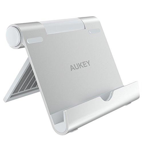 supporto x tablet AUKEY Supporto Tablet Regolabile Alluminio Porta Telefono per iPad Air/Mini