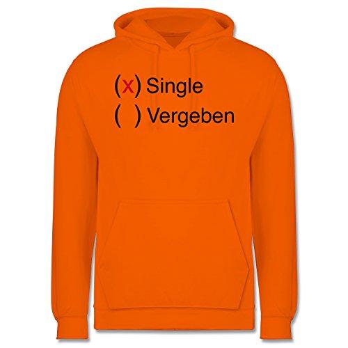 Statement Shirts - Single - Männer Premium Kapuzenpullover / Hoodie Orange