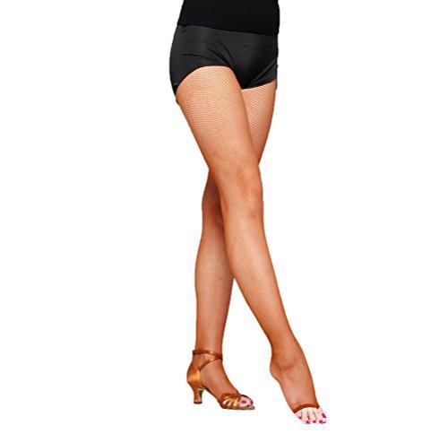 Nanxson (TM Damen Frauen Peeptoes zehenfrei Strumpfhose für Latin Dance Legging WZWL0012 (One Size, Braun)