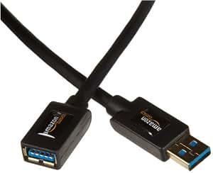 AmazonBasics Rallonge Câble USB 3.0 mâle A vers femelle A 2 m