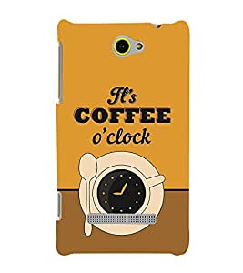 It's Coffee Time 3D Hard Polycarbonate Designer Back Case Cover for HTC Windows 8S