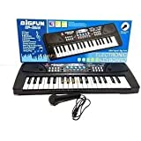 GANESH 37 Key Piano Bigfun Keyboard Toy With Recording And Mic & Mobile Charger Power Option