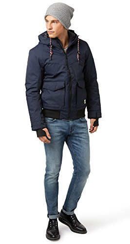 TOM TAILOR Denim Herren Jacke Wool Look Blouson Dunkelblau