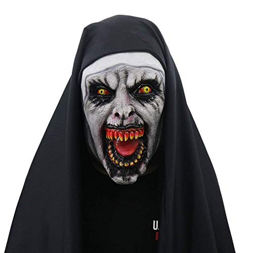 Halloween Maske Nonne Kostüm für Frauen-Maske mit Schleier Scary Zombie Maske Party Supplies