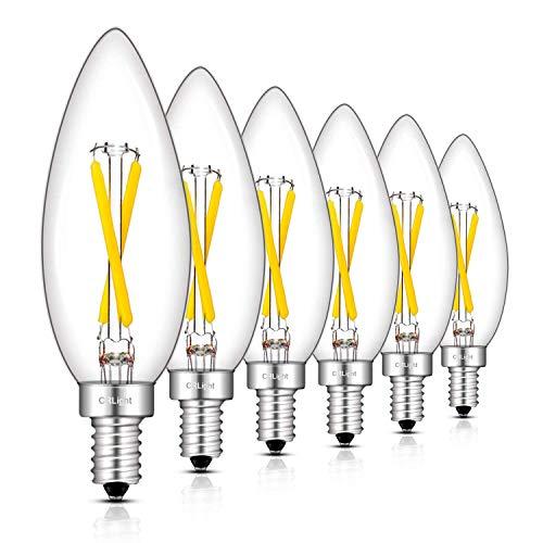 CRLight 2W führte Candelabra Birnen E12 Basis dimmbare LED-Kerzenlampen 2700K, 3000K, 4000K 5000K 6 Pack Daylight White (4000K)