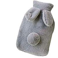 Lumanuby 1x Plüsch-Bezug Wärmflasche für Erwachsene Kinder PVC Wärmekissen 0.4L mit Plüsch Kaninchen Ohr und Nagel... preisvergleich bei billige-tabletten.eu