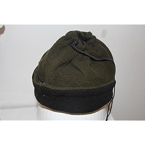 XMQC*Hat inverno caldo vello uomini corda regolabile nero e verde